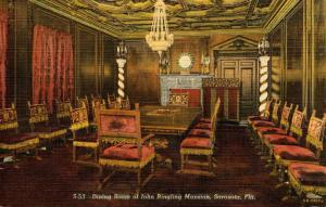FL - Sarasota. John Ringling Mansion, Dining Room