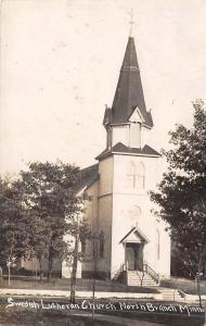 North Branch Minnesota~Swedish Lutheran Church~1908 Real Photo Postcard~RPPC