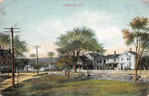 Oaklawn Rhode Island scenic view residential area homes antique pc Y10888