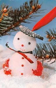 Post Card Old Vintage Antique Snow Man