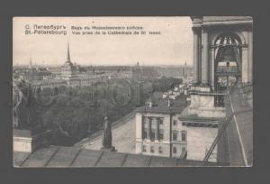 080998 RUSSIA ST.PETERSBURG view from Isaak cathedral Vintage