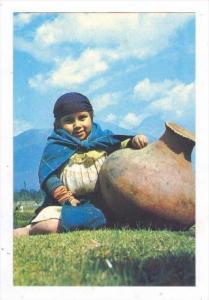 Otavalan Girl Carrying Waterin Earthenware Port, Otavalo, Ecuador, 1950-70s