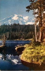 Washington Mt Rainier From Reflection Lake