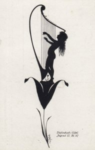 DIEFENBACH : Fantasy Silhouette , 00-10s ; Jugend II. BL. 37 ; White paper
