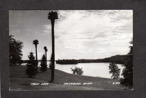 MN Minn  Long Year Park Trout Pond Coleraine Minnesota Real Photo RPPC Postcard