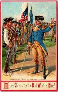 1910s Artist-Signed Veenfliet Postcard Revolutionary War George Washington