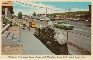 ROYAL GORGE, Colorado , 40-60s; Miniature Rio Grande Steam Engine & Diesel Unit