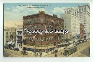 ft1402 - USA - Spokane , Washington - Howard & Riverside - postcard