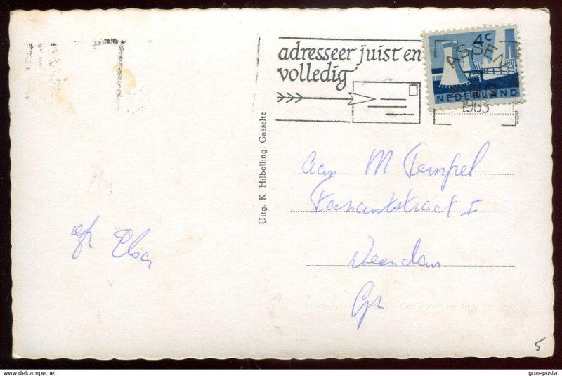 dc1527 - NETHERLANDS Gasselte 1963 Dorpsstraat Cafe. Real Photo Postcard