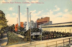 New Orleans Louisiana~Chalmette~American Sugar Refinery Factory~c1910 Postcard