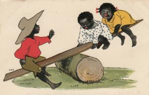 H.D.S. ; Children on a see-saw , 1905