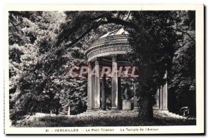 Old Postcard Versailles Le Petit Trianon The Temple of I & # 39Amour