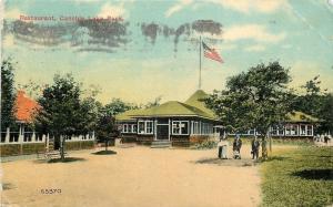 Salem NH Canoble Lake Amusement Park~Restaurant-~1910 PC