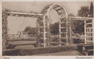 Siofok Rozsaliget Trellace Gate Reszlet Antique Hungary Hungarian Postcard