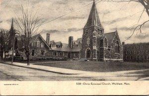 Massachusetts Waltham Christ Episcopal Church 1906
