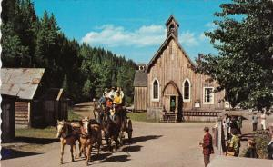 Historic Buildings, Church, Stage Coach, BARKERVILLE, British Columbia, Canad...