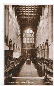 Worcestershire Postcard - Interior - Priory Church - Malvern - Real Photo ZZ3474