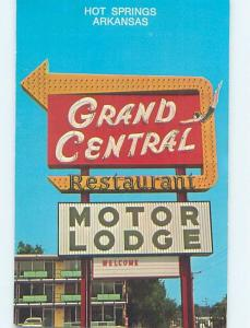 Unused Pre-1980 MOTEL SCENE Hot Springs Arkansas AR hk0678