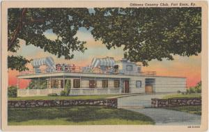 Kentucky Ky Postcard 1953 FORT KNOX Officers Country Club