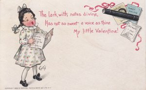 TUCK; VALENTINE'S DAY, 1903; Girl Singing