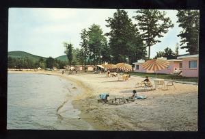 Gilford, New Hampshire/NH Postcard, Silver Sands Motel, Beach Cottages, Beach