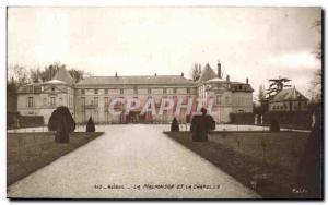 Old Postcard Malmaison and chapel