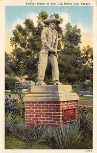 Cowboys Cowboy Statue on Boot Hill Dodge City, Kansas, USA 1944
