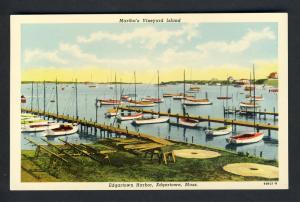 Martha's Vineyard,Mass/MA Postcard,Edgartown Harbor/Cape Cod
