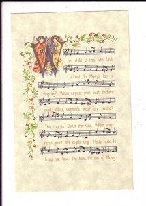 Christmas Greetings, Music Manuscript, Carol - What Child  Pub.1950 - 60's
