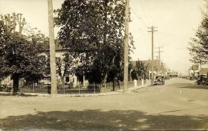 canada, LADNER, B.C., Main Street, Cars (1920s) RPPC
