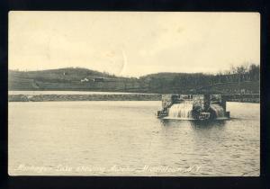 Middletown, New York/NY Postcard, Monhagen Lake Showing Aerator