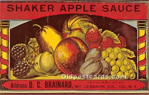 Shaker Apple Sauce Mount Lebanon, NY, USA Unused