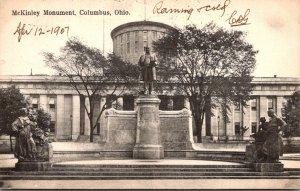 Ohio Columbus McKinley Monument 1907