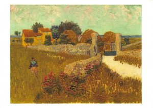 Art Postcard, Farmhouse in Provence (1888) by Vincent Van Gogh BO5