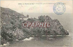 Old Postcard The Pointe du Raz Perspective taking the Embarcadere