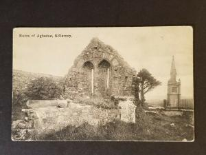 Mint Ireland Killarney County Kerry Ruins of Aghadoe Real Picture Postcard