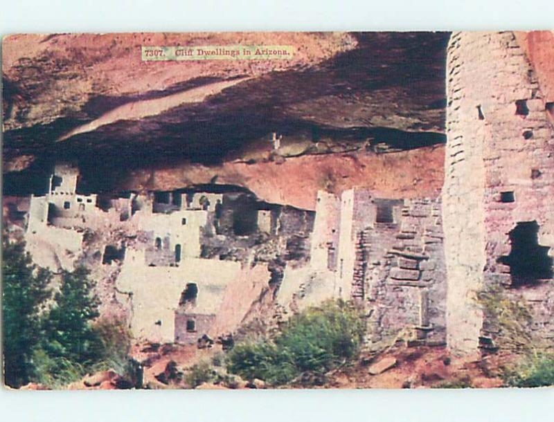 Divided-Back Indian CLIFF DWELLING state of Arizona HM7455