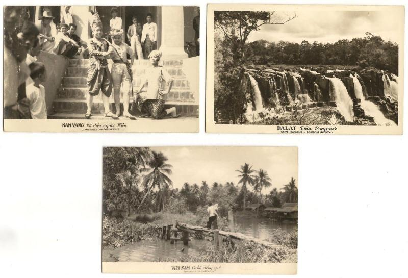 Vietnam vintage real photo postcards x 6