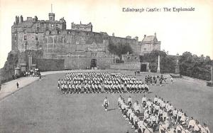 Scotland, UK Old Vintage Antique Post Card Edinburgh Castle The Esplanade Unused