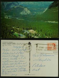 Banff's Rimrock Hotel, Victoria BC  NATO OTAN slogan 1969