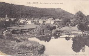 ROAN L´ETAPE, Vosges, France, 1900-1910´s; Vue Prise Du Pont du Chemin De Fer