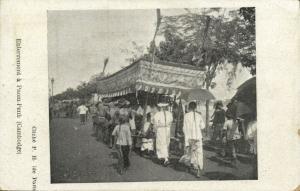 indochina, Cambodia, PHNOM PENH, Funeral Procession (1899)