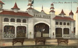 Hartford CT Luna Park BalL Room c1910 Postcard