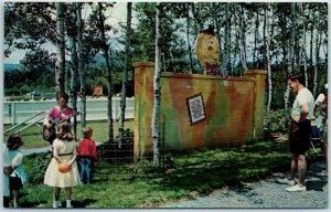 Lake George, New York Postcard STORYTOWN USA Amusement Park Humpty Dumpty c1950s