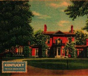 Ashland Home of Henry Clay Lexington Kentucky UNP Vtg Linen Bursheen Postcard