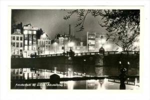 RP  AMSTERDAM , Netherlands, 40-50s   bij avond, Amstelbrug