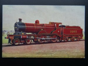 Steam Locomotive MIDLAND RAILWAY THREE CYLINDER COMPOUND EXPRESS - Old Postcard