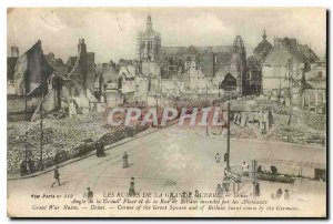Old Postcard Ruins of the Great War Angle of the Grand Place and the Douai St...