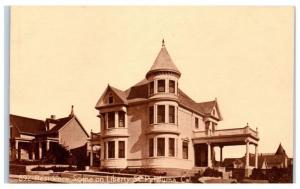 Early 1900s Liberty Street Home, Petaluma, CA Postcard