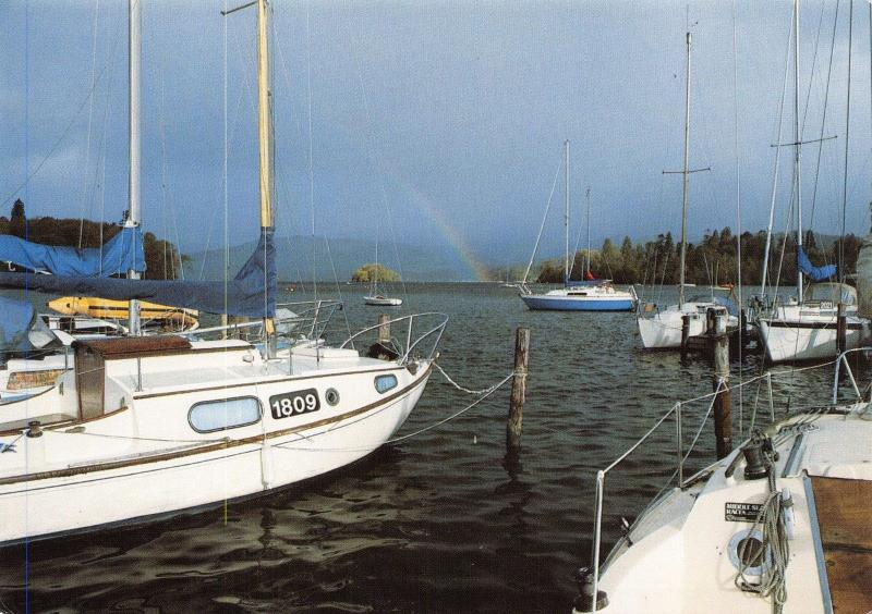 Postcard, Bowness Bay, Lake Windermere, Lake District, Cumbria. Boats 48E